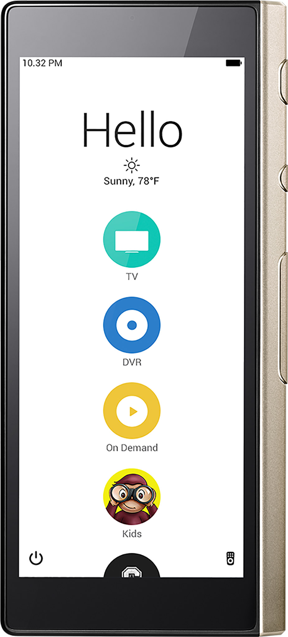 Ray Super Remote Home Screen
